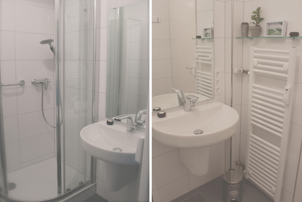 gro es bad dusche und waschbecken fewocux vermietung. Black Bedroom Furniture Sets. Home Design Ideas